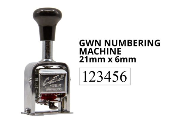 A automatic number machine stamp, where the numbers change each time that you 'stamp'