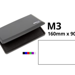 Large ink pad for traditional style stamps.