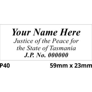 TAS Justice of the Peace Stamps