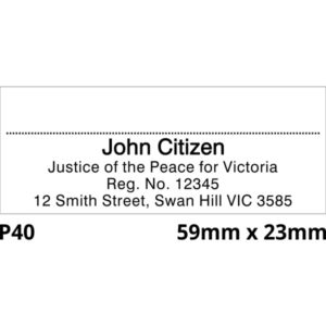 Justice of the Peace Rubber Stamp for Victoria