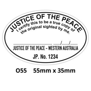 Justice Of The Peace rubber stamp for Western Australia.
