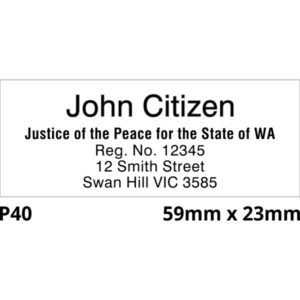 WA Justice of the Peace Stamps