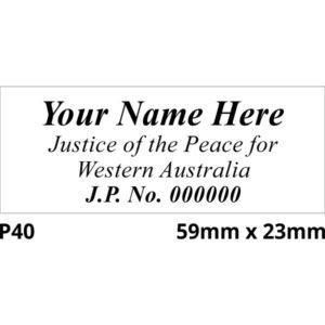 JP Stamp for WA.