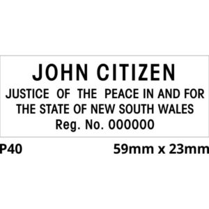 Justice of the Peace rubber stamp for New South Wales