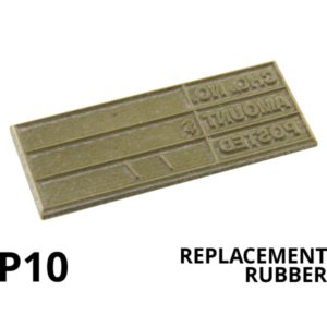 A rectangular replacement rubber that is made with lasers.