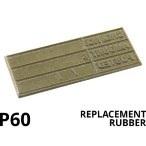 A replacement rubber for the Colop Printer 60
